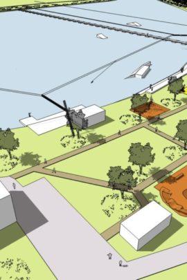 Návrh Wake parku u Pelhřimova