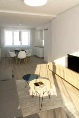 Interiér bytu v Jihlavě